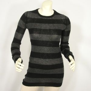 NEIMAN MARCUS CASHMERE STRIPED SWEATER DRESS S